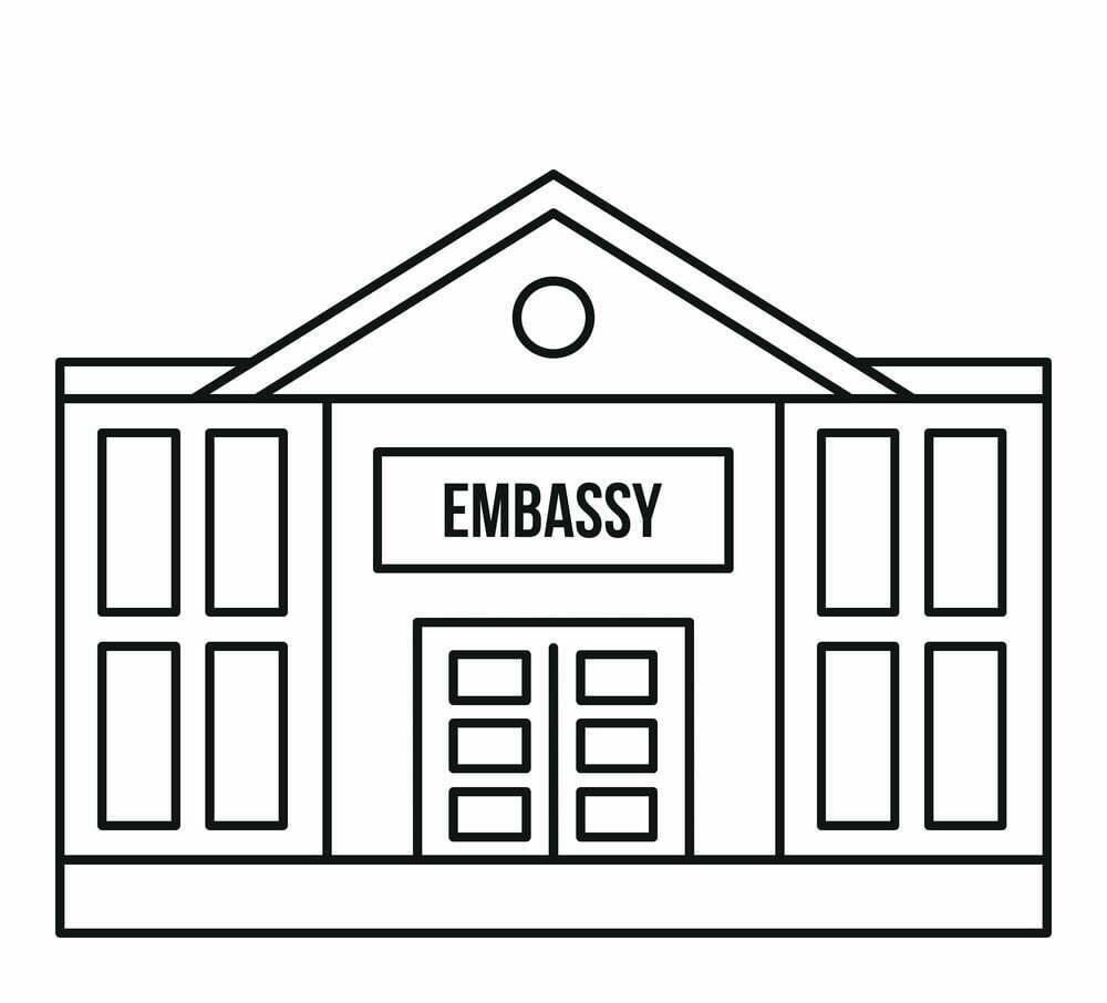 embassy-icon-outline-style-vector-12138032